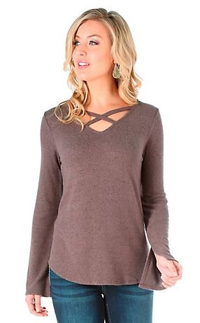 Criss Cross Neckline Sweater