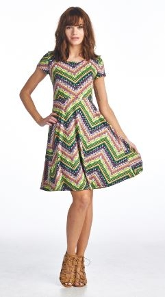Aztec Print Dress With Cross Back & Bow Detail
