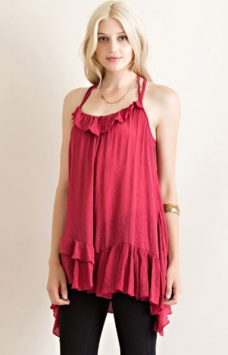 Entro A-line top with Ruffles