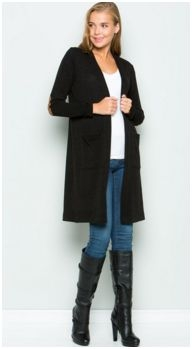 Long sleeve front pocket cozy knit cardigan