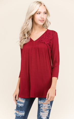 Tunic With Lace Embellishment