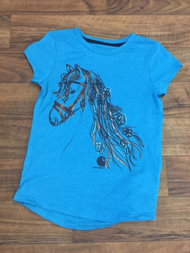 Girls Horse With Golden Mane Tee