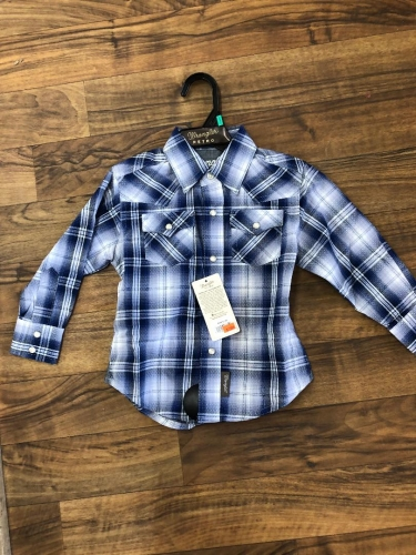 Wrangler Boys Long Sleeve Western Snap