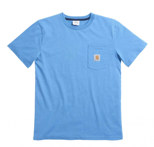 SHORT SLEEVE HEATHER POCKET TEE