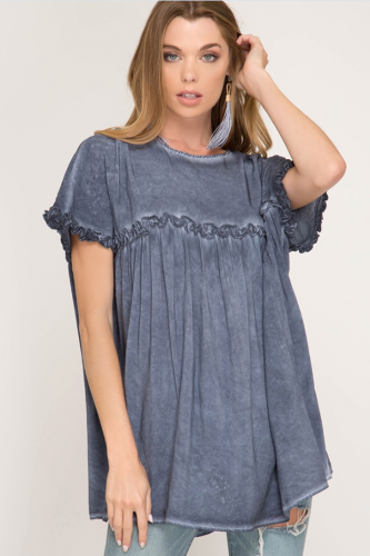 Flowy Short Sleeve Top
