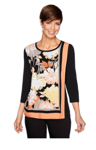 Ruby Rd. Printed Tiered Top