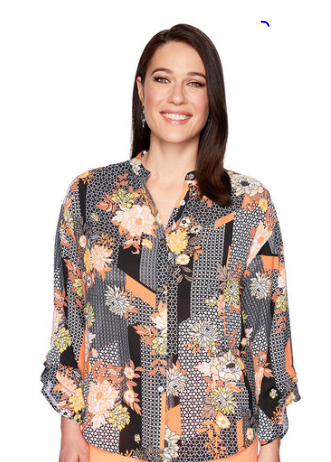 Ruby Rd. Printed Georgette Shirt