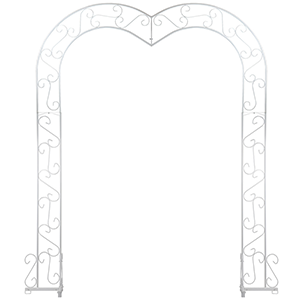 Arch, White Metal Heart