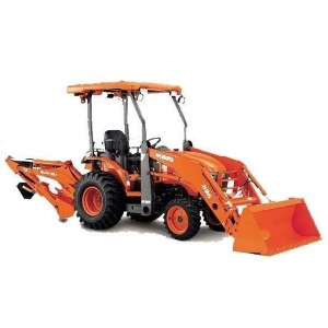Backhoe / Loader - Kubota 4WD Tractor / Loader / Backhoe
