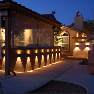 Evening Landscape Lighting