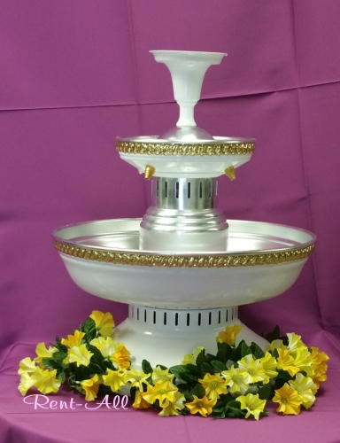 White with gold trim 5 gal Fountain