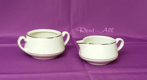 Ivory Sugar Bowl 12 1/2 oz. and Creamer 11 1/2 oz.