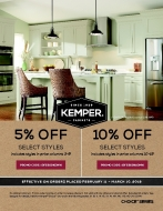 Kemper Cabinet Savings!