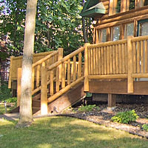 Norway Hewn Log Railing Systems