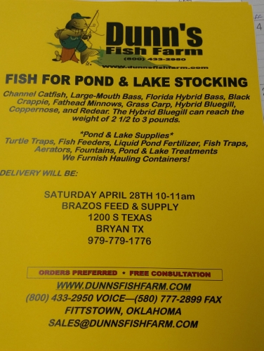 Dunn's Fish For Pond & Lake Stocking Store Visit