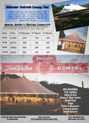 44'x103' SAILCLOTH TENT (STILLWATER SERIES)