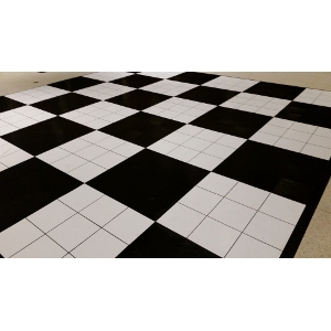 Dance Floor Black and White 3' x 3' section