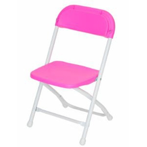 Atlas Chairs and Tables Bright Pink Children's Folding Chair