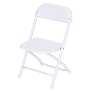 Atlas Chairs and Tables White Children's Folding Chair