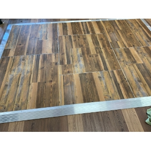 12x12 Vintage Pine Portable Dance Floor