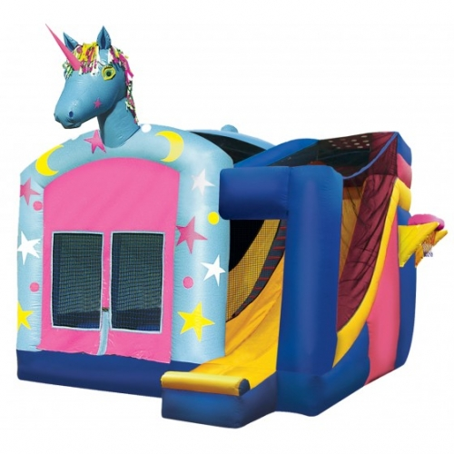 Einflatables Unicorn Moonwalk Bounce