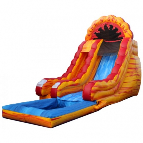 Einflatables Fire and Splash Slide
