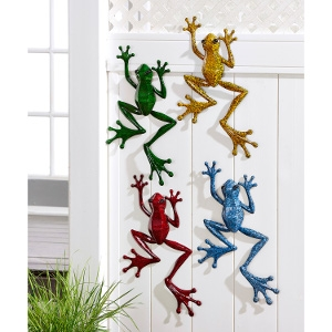 Pond Life Frog Design Wall Plaque- 4 Assorted