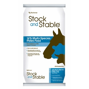 Stock and Stable® 12% Pellet Multi-Species Feed 50lb