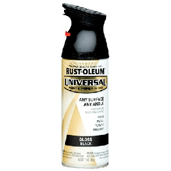 Universal Topcoat Gloss Black Spray Paint