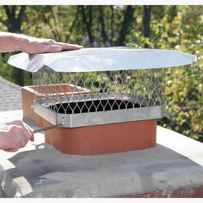 HY-C Stainless Steel Chimney Cap, 9 x 9 in.
