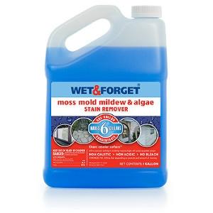 Wet & Forget Outdoor Moss, Mold, Mildew & Algae Stain Remover, Makes 6 Gallons