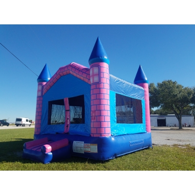 Pink and Blue Castle Bounce