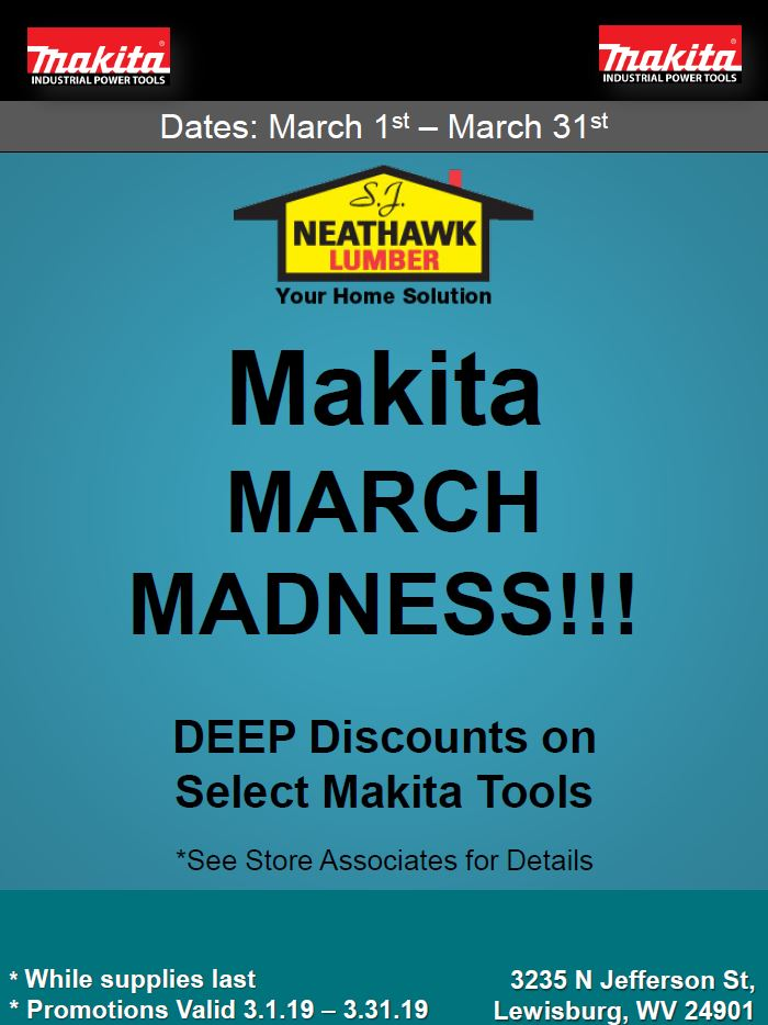 Makita March Madness Flyer