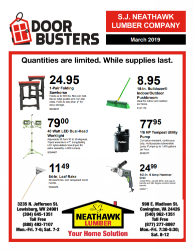 March Door Busters!