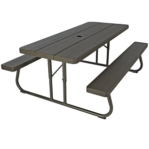 Lifetime Folding Picnic Table, 30 In W X 72 In D X 29 In H, HDPE