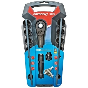 Crescent X6 CX6PT20 Pass-Through Socket Set