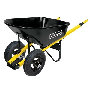 Vulcan 34885 Wheelbarrow, 6 Cu-Ft, Steel, 2 Wheels