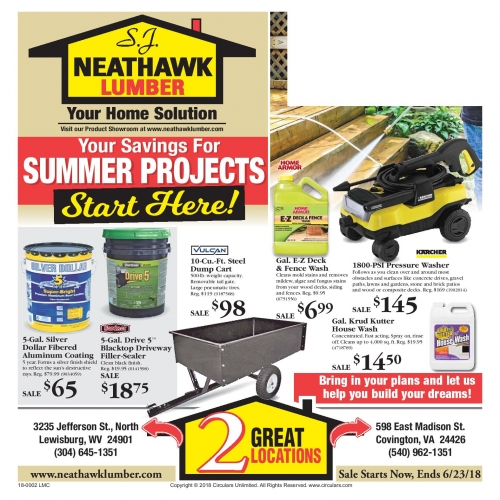 Your Savings For Summer Projects Start Here!