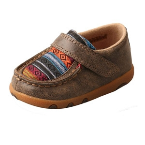 Twisted X® Infants Driving Moccasins - Bomber/Multi Serape