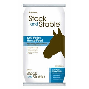 Nutrena® Stock and Stable® 12% Pellet Horse Feed