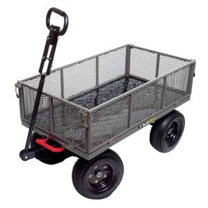 "Steel Multi-Use 48"" x 24"" Utility Garden Cart"
