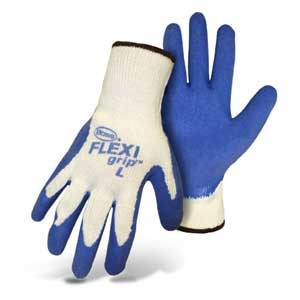 Boss® Flexi Grip™ Blue Latex Palm String Knit Gloves