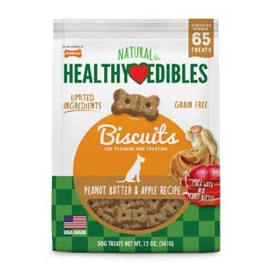 Healthy Edibles Biscuits Peanut Butter & Apple Flavor