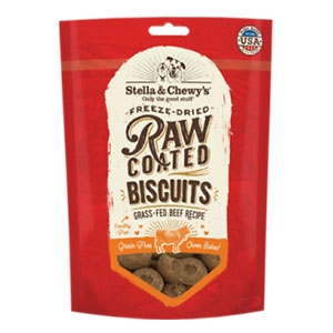 Stella & Chewy's® Grass-Fed Beef Raw Coated Biscuits Dog Treats