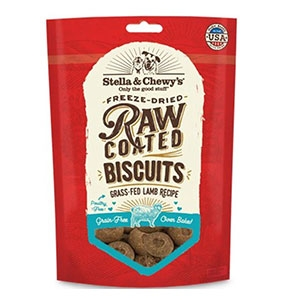 Stella & Chewy's® Grass-Fed Lamb Raw Coated Biscuits Dog Treats