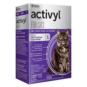 Activyl® Spot-On Flea Killer for (Over 9 Lbs.) Cats