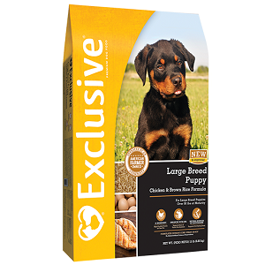 Exclusive® Chicken & Brown Rice Large Breed Puppy Formula