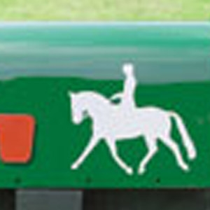 Caution Horses Reflective Horse Decals