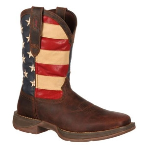 Rebel Patriotic Pull-On Western Flag Boot