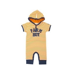 Newborn Farm Boy® Striped SS Romper